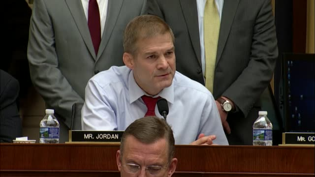 Ohio Congressman Jim Jordan questions Attorney General Jeff Sessions at an oversight hearing before the House Judiciary Committee about whether the...