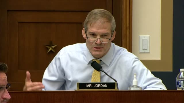 ohio congressman jim jordan says at a house judiciary antitrust subcommittee hearing with executives from amazon, apple, alphabet and facebook that... - big tech stock videos & royalty-free footage