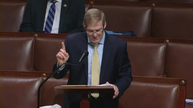 vidéos et rushes de ohio congressman jim jordan says in debate on a rule to put a resolution allowing remote proxy voting and a three trillion dollar coronavirus relief... - post it