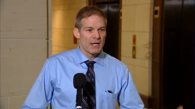 ohio congressman jim jordan tells reporters after a pair of trump administration officials failed to appear pursuant to subpoenas for private... - connection in process stock videos & royalty-free footage