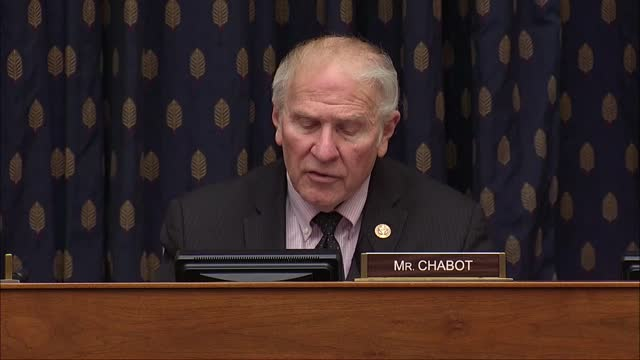 vídeos de stock, filmes e b-roll de ohio congressman steve chabot asks special envoy for syria joel rayburn at a house foreign affairs committee hearing about the situation in idlib... - political action committee