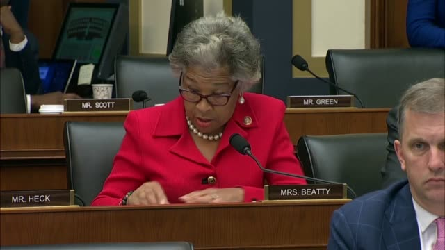 ohio congresswoman joyce beatty asks facebook ceo mark zuckerberg at house financial services committee hearing the percentages were for... - scolding stock videos & royalty-free footage