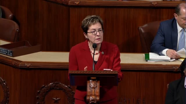 vídeos de stock, filmes e b-roll de ohio representative marcy kaptur says after a procedural vote that the majority had exacted a great injustice with the unwarranted unjust forced... - política e governo