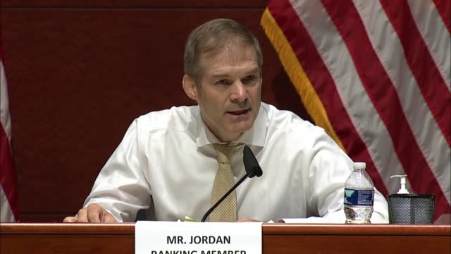 stockvideo's en b-roll-footage met ohio republican jim jordan says at a house judiciary committee hearing with george floyd's brother and nine of the witnesses appearing to discuss... - verschijning