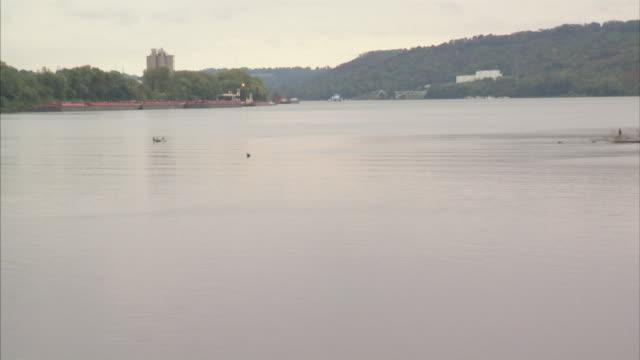 vídeos y material grabado en eventos de stock de ohio river slight zi xws mouth of dry creek w/ ferry landings in boone county hebron kentucky kenton county cincinnati national register of historic... - río ohio