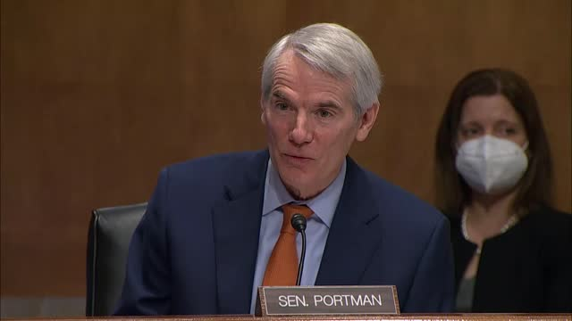ohio senator rob portman asks office of management and budget deputy director nominee shalanda young at senate governmental affairs committee... - nomination stock videos & royalty-free footage