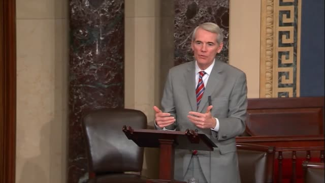 ohio senator rob portman says after the senate adopted a fiscal 2018 budget resolution that every economist agrees tax reform changes behavior by... - social services stock videos & royalty-free footage