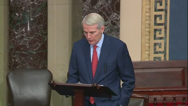 stockvideo's en b-roll-footage met ohio senator rob portman says in senate floor remarks that china would attempt to steal us research on coronavirus vaccinations for its own benefit... - voorzitter