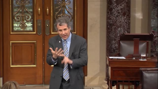 ohio senator sherrod brown argues against the tax cuts and job act that when he and finance committee chairman orrin hatch had a very public... - social security stock videos and b-roll footage