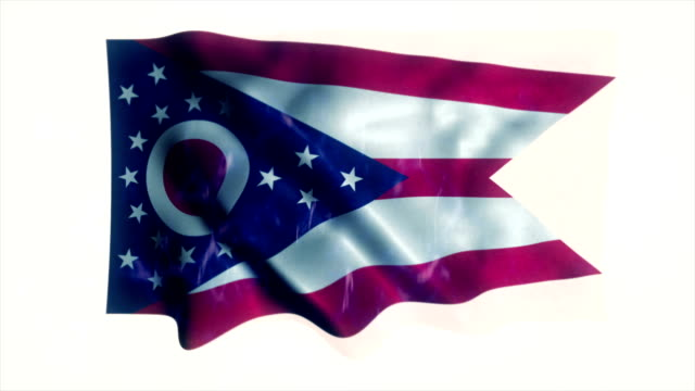 ohio state flag - cleveland stock videos and b-roll footage