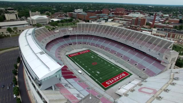 ohio state university football stadium columbus ohio - dronebase stock videos & royalty-free footage