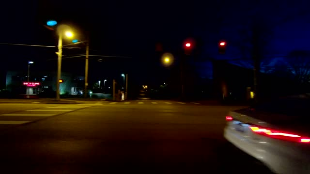 ohio xii synched series left view driving process plate night - part of a series stock videos & royalty-free footage