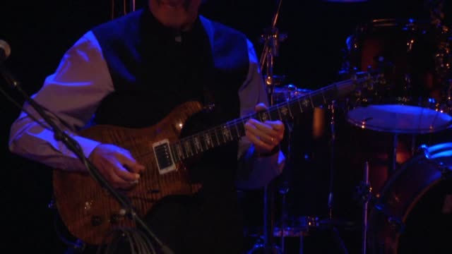 ohn mclaughlin the 72 year old legend of jazz guitar and pioneer of fusion played a concert in ramallah on wednesday to support a palestinian ngo... - music therapy stock videos & royalty-free footage