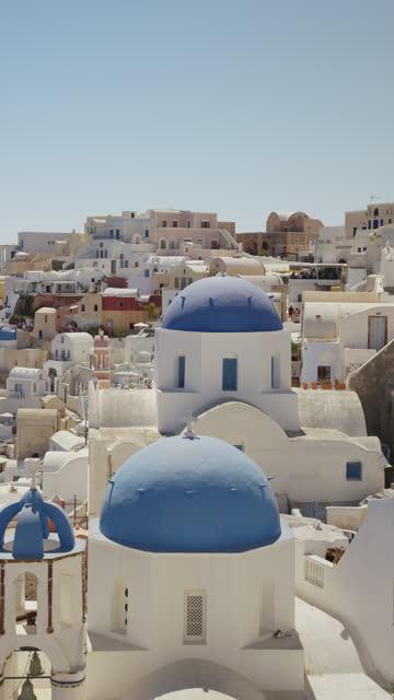 oia, santorini, greece - cyclades islands stock videos & royalty-free footage