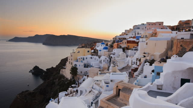 oia transition 1 - oia santorini stock videos & royalty-free footage