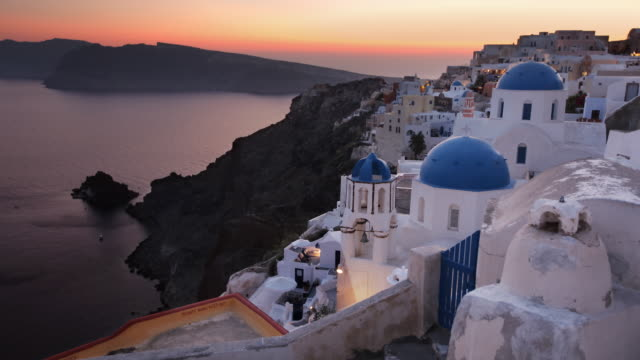 oia transition 2 - oia santorini stock videos & royalty-free footage