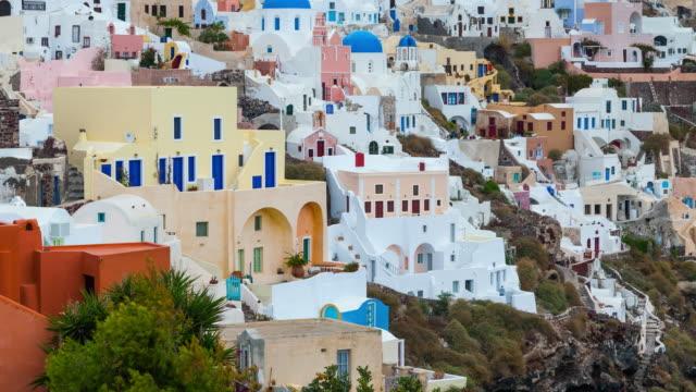 oia village in santorini island - サントリーニ島点の映像素材/bロール