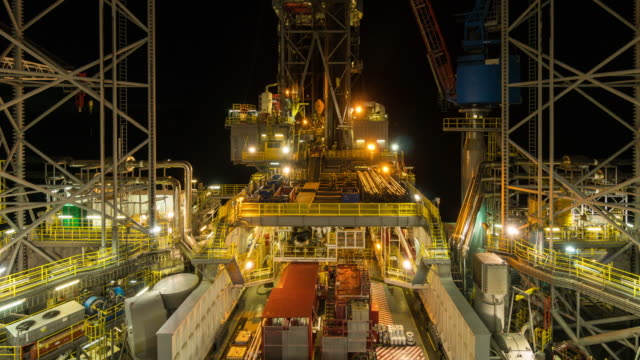 oil and gas drilling rig operation