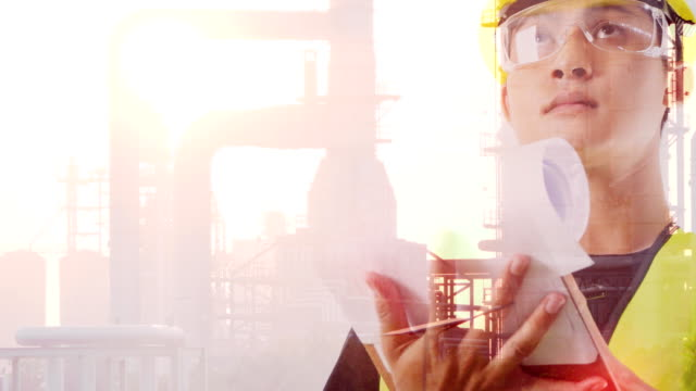 vídeos de stock, filmes e b-roll de engenharia de óleo e gás - safety