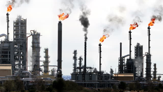 oil and gas industry - oil refinery stock videos & royalty-free footage