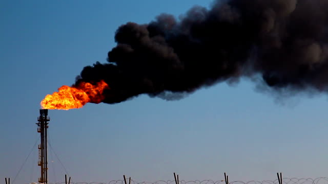 oil and gas pollution, black cloud of smoke - refinery stock videos & royalty-free footage
