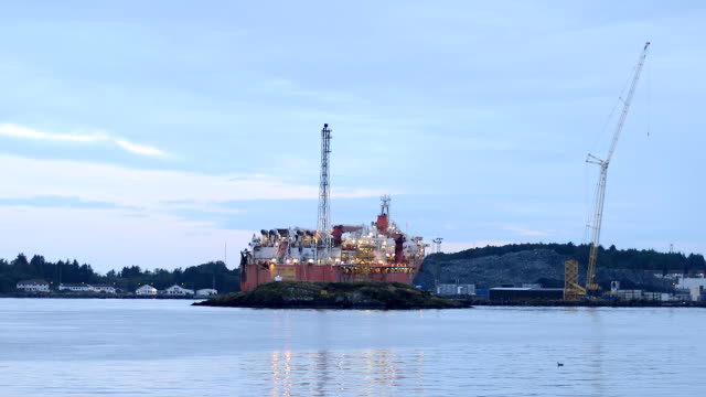 oil and gas ship in stavanger, norway - north stock videos and b-roll footage