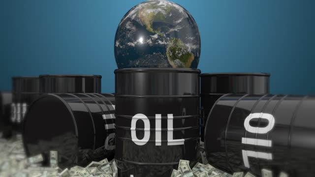 Barils de pétrole et de terre