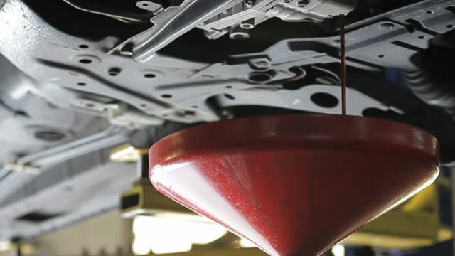 Oil Change at Auto Repair Shop