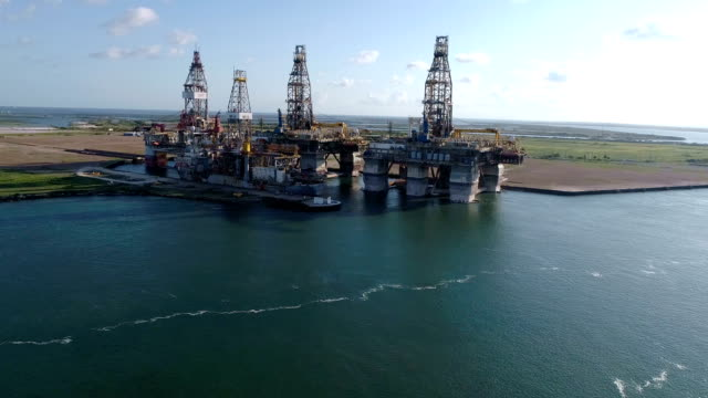 oil drilling platform near corpus christi texas usa - drill stock videos & royalty-free footage