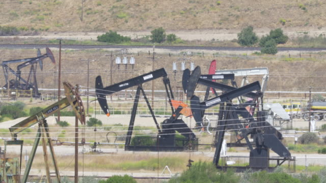 oil drilling rigs in california - recreational pursuit stock videos & royalty-free footage