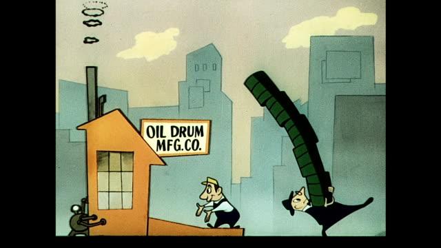 oil drum manufacturer needs to expand operation - ドラム容器点の映像素材/bロール