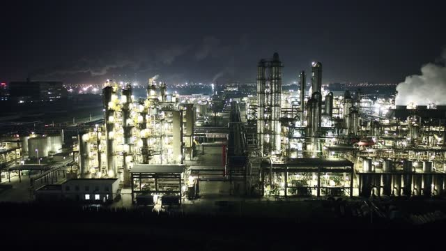 oil factory at night - chemical stock videos & royalty-free footage