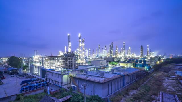 スマートファクトリーコンセプトの石油工場 - equipment点の映像素材/bロール
