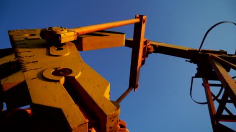 oil field pump - oil industry stock videos & royalty-free footage