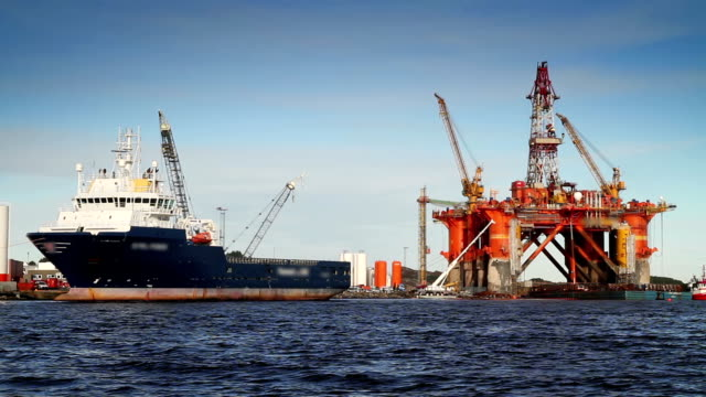 oil industry - oil rig boat stock videos & royalty-free footage