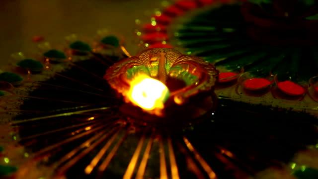 Oil lamp on Diwali festival