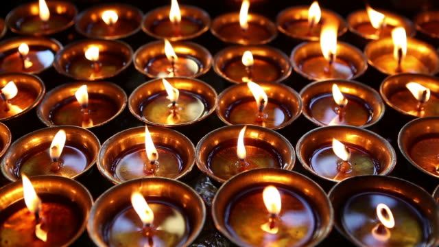oil lamps diya - celebration stock videos & royalty-free footage