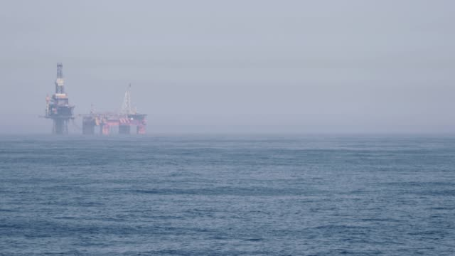 oil platform structure in north sea - north sea stock videos & royalty-free footage
