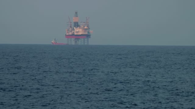 oil platform structure in north sea - motor oil stock videos and b-roll footage