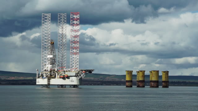 oil production platform port of invergordon scotland uk - gas stock videos & royalty-free footage