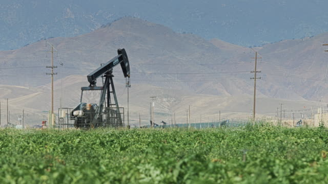 Oil Pump and Farm Field