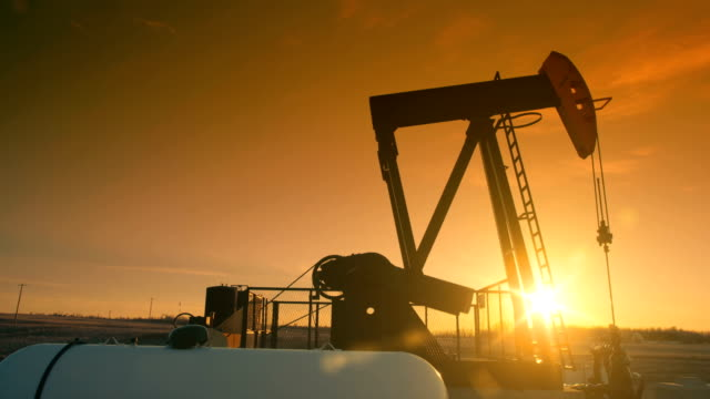 vídeos y material grabado en eventos de stock de el gato de la bomba de aceite bombea aceite del suelo. - gas natural
