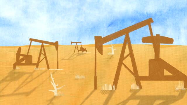 Öl Pumpen Landschaft nahtlose loop