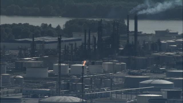 Oil Refinery  - Aerial View - Haute-Normandie, Seine-Maritime, Arrondissement du Havre, France