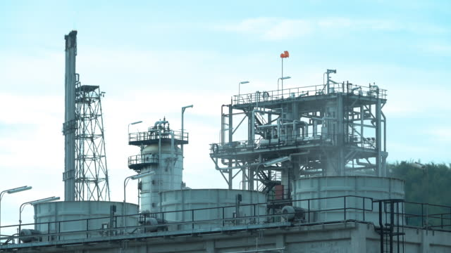 oil refinery emitting greenhouse gases - edmonton stock videos and b-roll footage