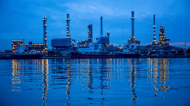 oil refinery factory. - bangkok stock videos & royalty-free footage