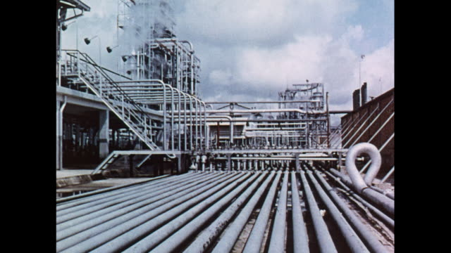 montage oil refinery in brunei - brunei stock videos & royalty-free footage