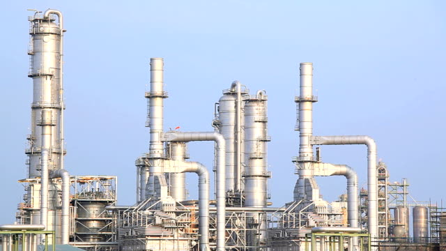 Oil Refinery Plant Working