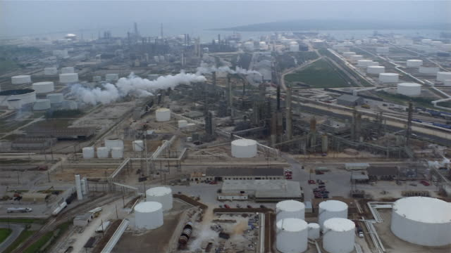 AERIAL oil refinery  Texas City  Texas  USA