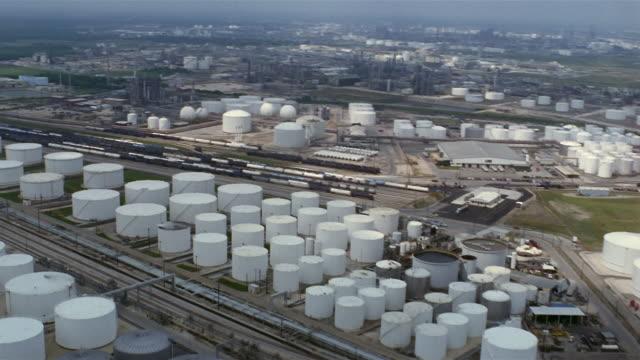 AERIAL oil refinery  Texas City  Texas  USA